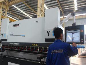 touch screen control cnc pindutin ang preno machine 6 axis 220T 4000MM siemens motor kapangyarihan