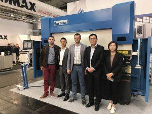 Ang Talat ay sumali sa Hannover International Machine Tool Exhibition sa Germany noong 2017