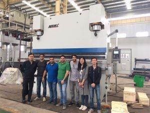 Mga Bisita sa Brazil Bisitahin ang Mga Pabrika at Bilhin ang Pindutin ang Mga Brake Machine