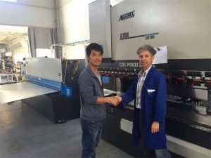 Cyprus Client Visit Press Brake Machine And Shearing Machine sa Our Factory