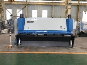 Hydraulic guillotine shearing machine 3200mm x 8mm na may suporta sa niyumatik na materyal