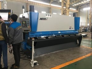 Hydraulic guillotine machine MS8-8x3200 na may sheet support system