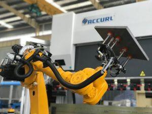 Robotic bending cell system para sa awtomatikong robot pindutin ang preno ng sheet metal