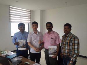 Mga Customer sa Sri Lanka Talakayin ang Teknolohiya sa Mr.Tai sa aming Opisina